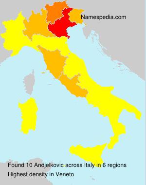 Surname Andjelkovic in Italy
