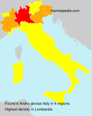 Surname Andric in Italy