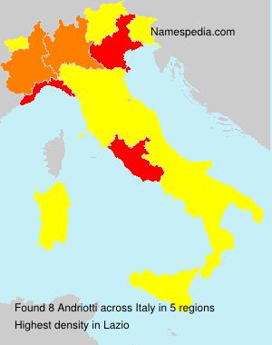 Familiennamen Andriotti - Italy