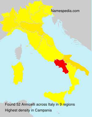 Surname Annicelli in Italy