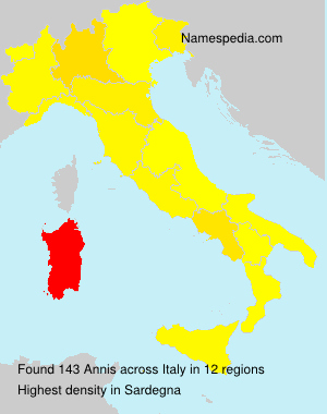 Surname Annis in Italy