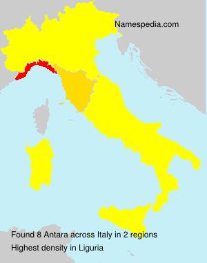 Surname Antara in Italy