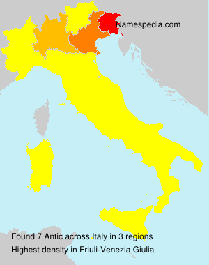 Surname Antic in Italy
