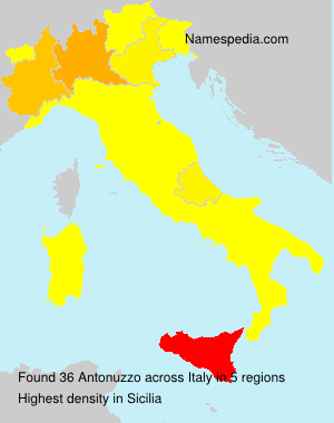 Surname Antonuzzo in Italy
