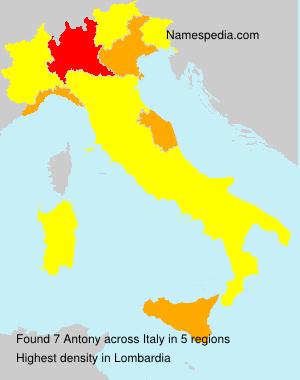 Surname Antony in Italy