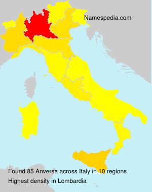 Surname Anversa in Italy
