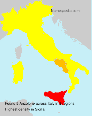Surname Anzolone in Italy