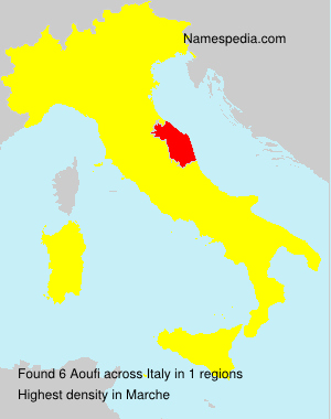 Surname Aoufi in Italy