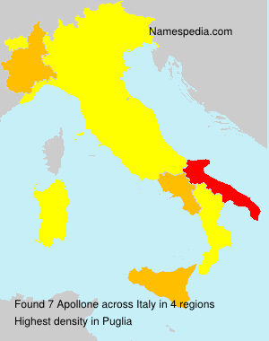 Surname Apollone in Italy