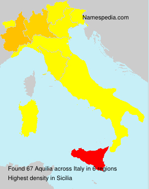 Surname Aquilia in Italy