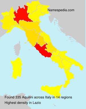 Familiennamen Aquilini - Italy