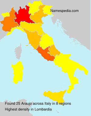 Familiennamen Araujo - Italy