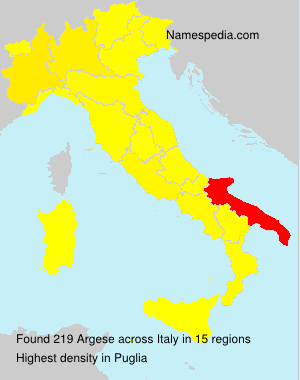 Surname Argese in Italy