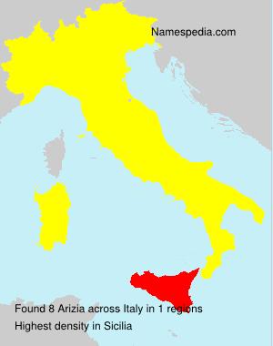 Familiennamen Arizia - Italy