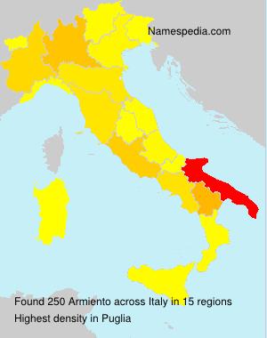 Familiennamen Armiento - Italy