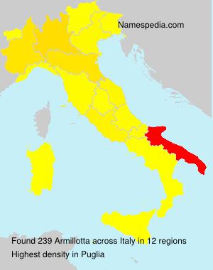 Surname Armillotta in Italy