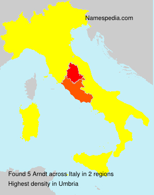 Surname Arndt in Italy