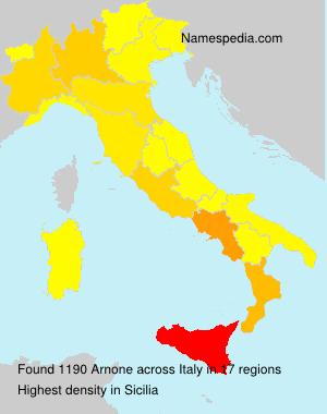Surname Arnone in Italy