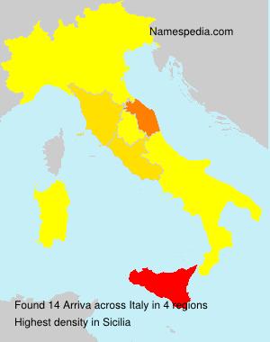 Familiennamen Arriva - Italy