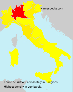 Surname Artifoni in Italy