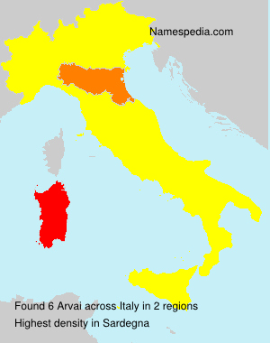 Surname Arvai in Italy