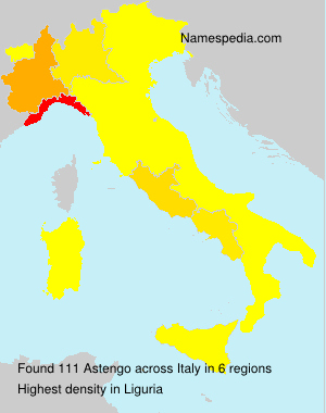 Surname Astengo in Italy