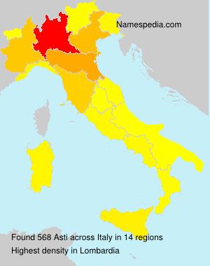 Familiennamen Asti - Italy