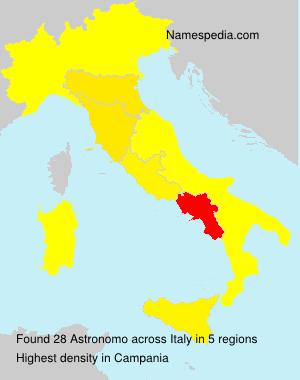 Surname Astronomo in Italy