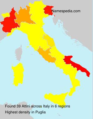Surname Attini in Italy