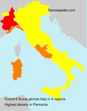 Surname Auzas in Italy