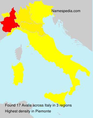 Familiennamen Avalis - Italy