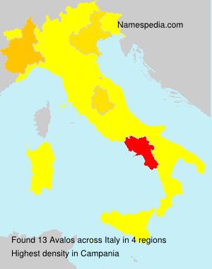 Familiennamen Avalos - Italy