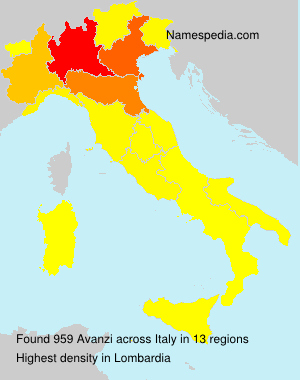 Familiennamen Avanzi - Italy
