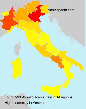 Familiennamen Avanzo - Italy