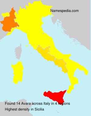 Familiennamen Avara - Italy