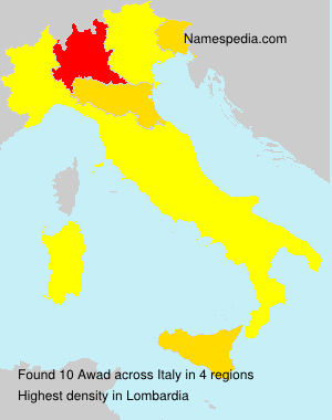 Surname Awad in Italy