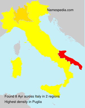 Surname Ayr in Italy