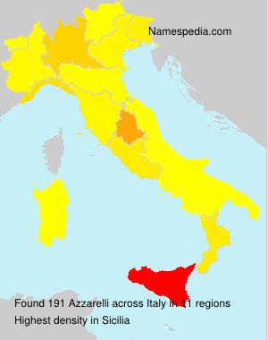 Surname Azzarelli in Italy