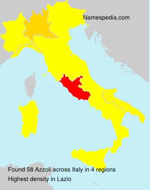 Surname Azzoli in Italy