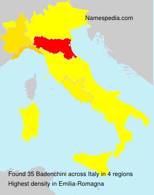 Surname Badenchini in Italy