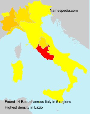Surname Baduel in Italy
