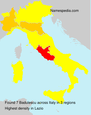 Surname Badulescu in Italy