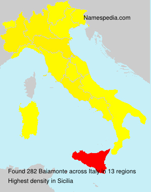 Surname Baiamonte in Italy