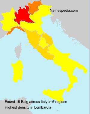 Familiennamen Baig - Italy