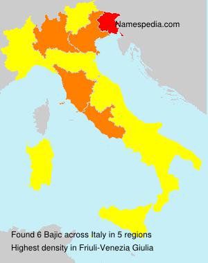 Surname Bajic in Italy