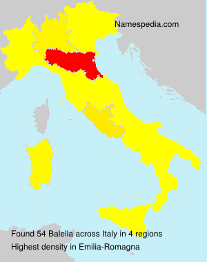 Surname Balella in Italy
