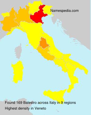Familiennamen Balestro - Italy