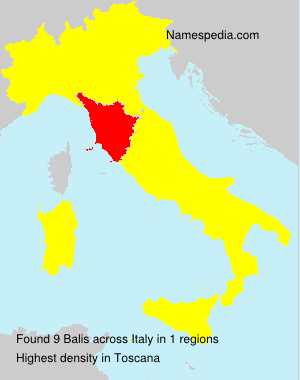 Surname Balis in Italy