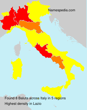 Surname Baluta in Italy