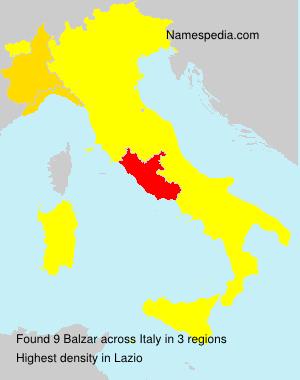 Surname Balzar in Italy